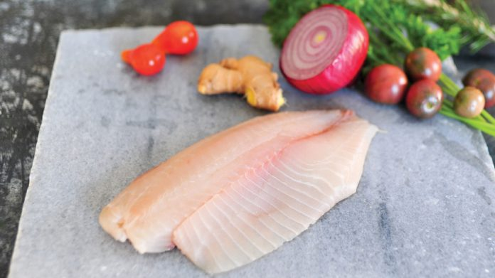 tilapia vegetables slate