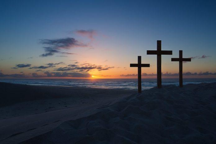 lent crosses sunset