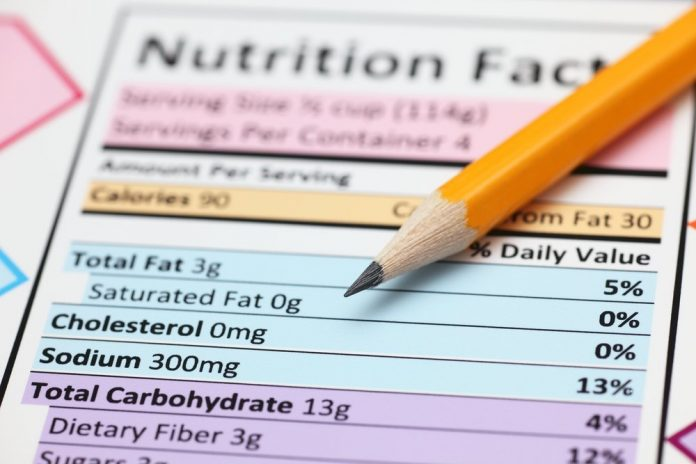 nutrition label healthy