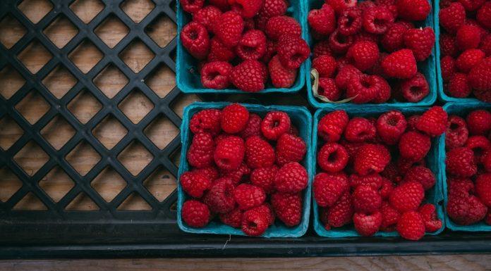 raspberry organic healthy fruit