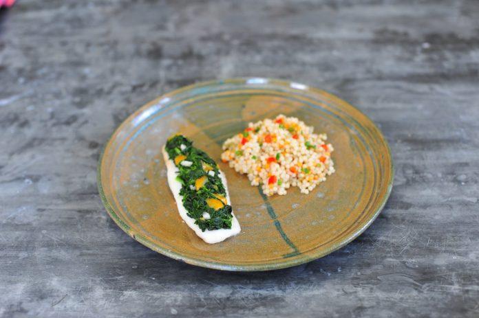 wheat grain side dish fish