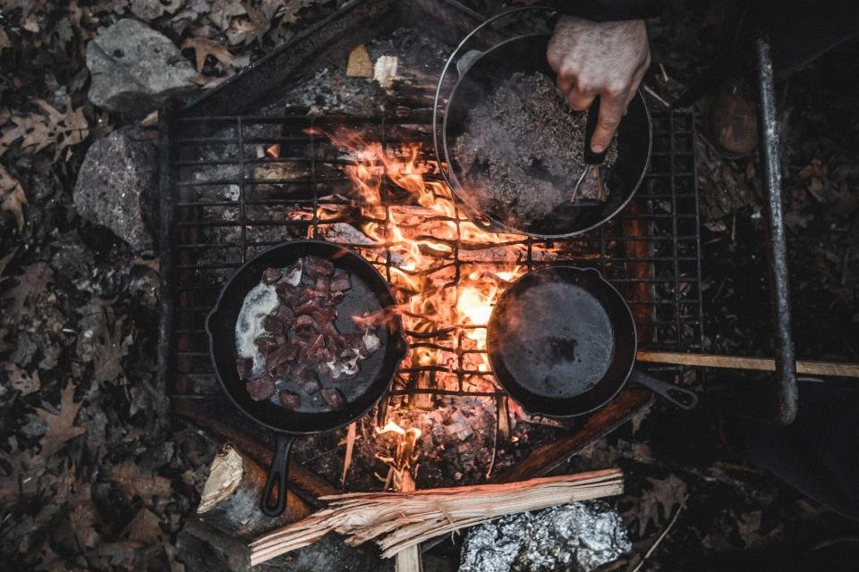 Cooking Campfire Camping Healthy