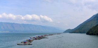 A Regal Springs fish farm in Indonesia