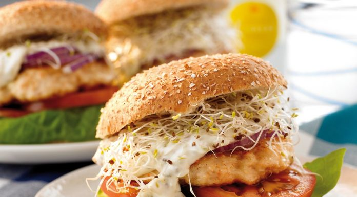Healthy fish burger meat substitute