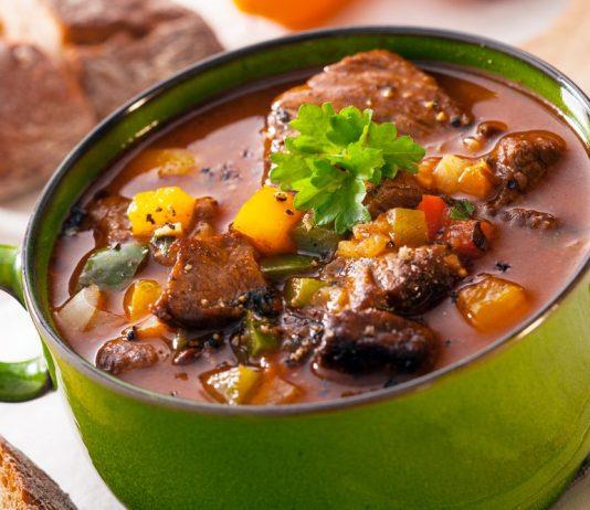 Pot of healthy stew