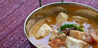 indian food fish curry dish