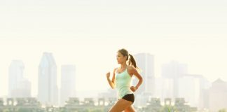 Woman jogging as part of a healthy lifestyle