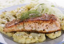 salmon fish cauliflower vegetables