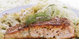 salmon fish cauliflower vegetables