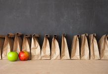 school lunch bags apples fruit