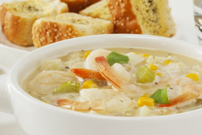 Crock pot recipes seafood corn chowder the healthy fish for Fish chowder slow cooker