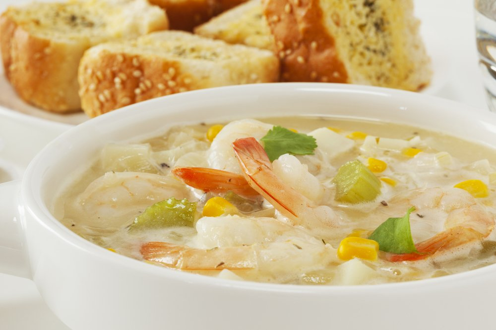 Crock pot recipes seafood corn chowder the healthy fish for Healthy fish chowder