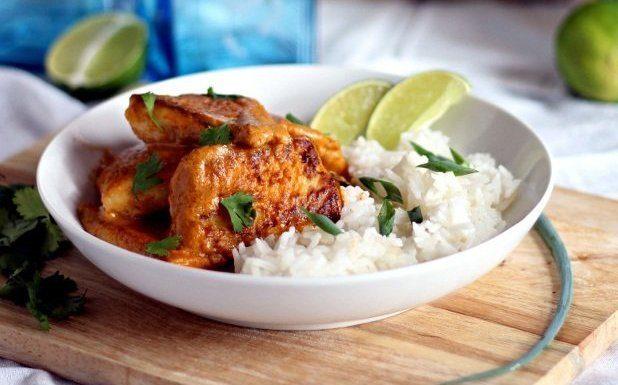 thai dinner fish rice