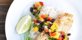 Healthy tropical Tilapia recipe