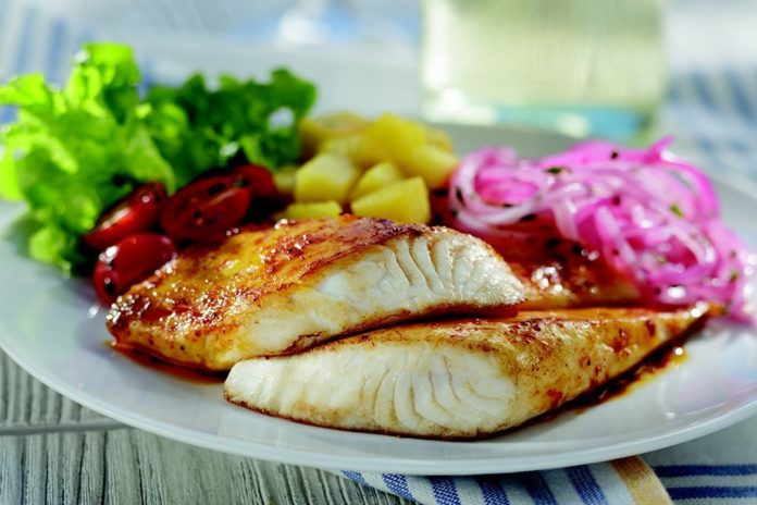 High protein fish dinner