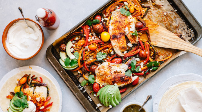 Mexican Sheet Pan Tilapia and Vegetables