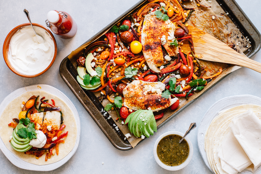 Mexican Sheet Pan Tilapia and Vegetables - The Healthy Fish