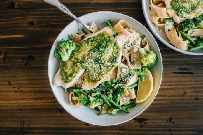 Green Goddess Pasta with Pesto Tilapia 1