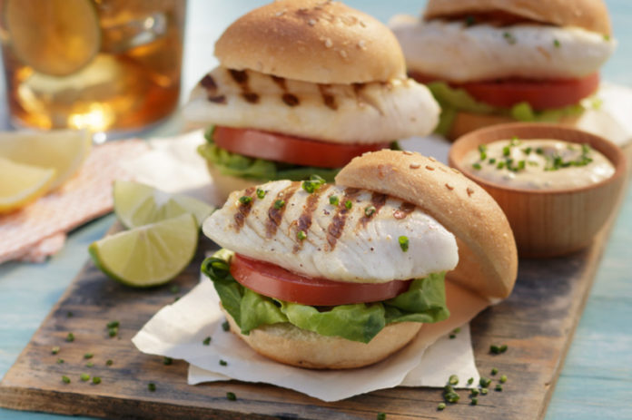Tilapia Sliders with Lobster Sauce