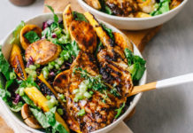 Tropical Jerk Tilapia Salad
