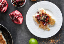 Coconut-Crusted Tilapia with Pomegranate Salsa
