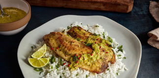 Pan-fried Tilapia with garlic and ginger