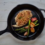 Panko-Crusted Tilapia with asaparagus and roasted potatoes