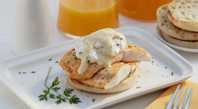 Tilapia eggs Benedict