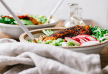 Buckwheat bowl with blackened Tilapia