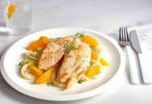 Tilapia with fennel and orange salad