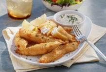 Tilapia 'n' chips with tartar sauce