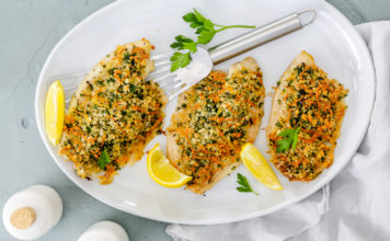 Tilapia with herb crust