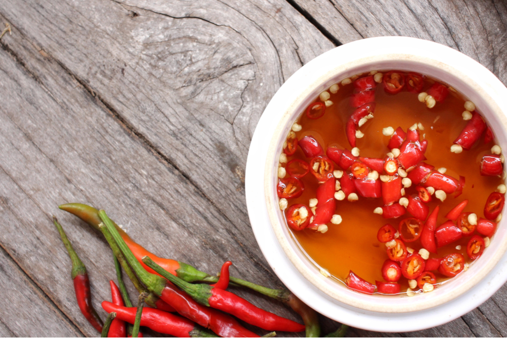 Fresh chilies and fish sauce