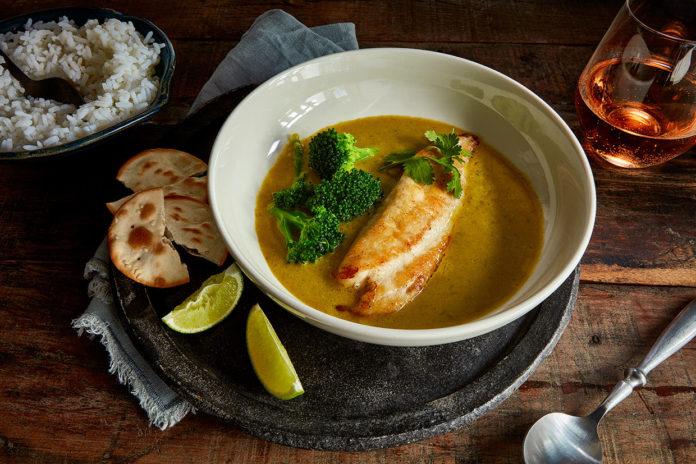 Thai curry-roasted Tilapia loins